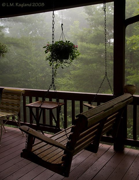 Swing on the porch